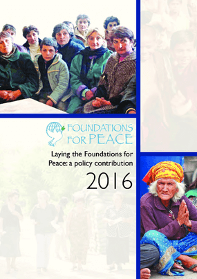 Laying the Foundations for Peace: A Policy Contribution 2016