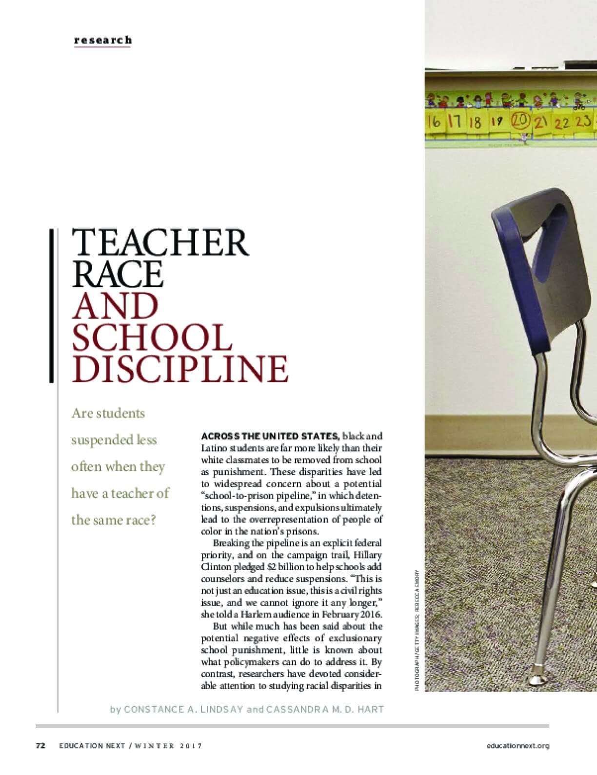 Does Exposure to Teachers of the Same Race Affect Discipline?