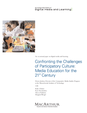 Confronting the Challenges of Participatory Culture: Media Education for the 21st Century